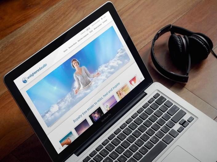 Music website - enlightened audio